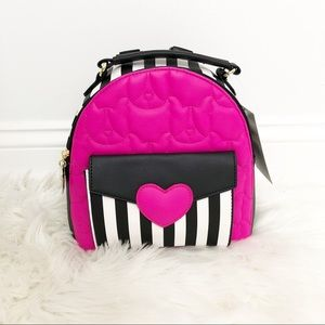 Betsey Johnson Dog and Heart Mink Backpack